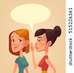 two girls characters gossiping. ... | Shutterstock .eps vector #515226361