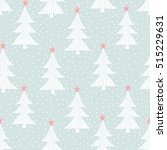 seamless pattern with christmas ... | Shutterstock .eps vector #515229631