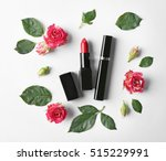 lipstick with mascara and... | Shutterstock . vector #515229991