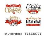 christmas logotype. christmas...   Shutterstock .eps vector #515230771