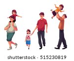 father and daughter  set of... | Shutterstock .eps vector #515230819