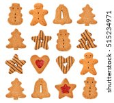 christmas cookies isolated on... | Shutterstock . vector #515234971