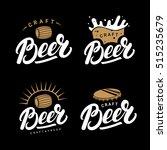set of beer hand written...   Shutterstock .eps vector #515235679