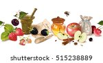 vector fruit and berry seamless ... | Shutterstock .eps vector #515238889