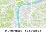 urban city map of prague | Shutterstock .eps vector #515240515