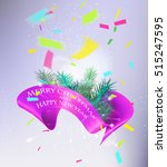 christmas and new year greeting ... | Shutterstock .eps vector #515247595