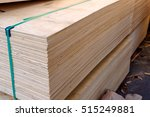 Sheets Of Stacked Plywood In...