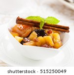 a christmas compote dessert... | Shutterstock . vector #515250049