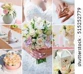wedding collage brides decor... | Shutterstock . vector #515252779