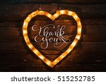 heart of lights on a dark... | Shutterstock . vector #515252785
