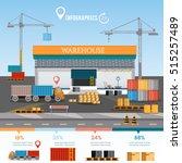 warehouse infographic building... | Shutterstock .eps vector #515257489