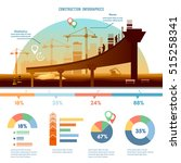 construction infographics  big... | Shutterstock .eps vector #515258341