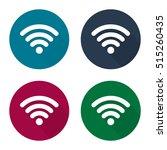 wifi logo button icon set...