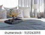 luxury bedroom interior with... | Shutterstock . vector #515262055