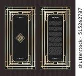 vector geometric cards in art... | Shutterstock .eps vector #515262787
