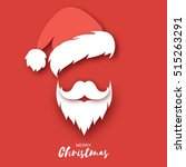 santa claus hat and beard | Shutterstock .eps vector #515263291