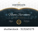 certificate template with... | Shutterstock .eps vector #515265175