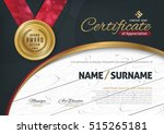 certificate template with... | Shutterstock .eps vector #515265181