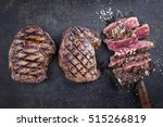 barbecue entrecote steaks on... | Shutterstock . vector #515266819