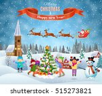 happy new year and merry... | Shutterstock .eps vector #515273821
