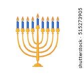 menorah icon in flat style... | Shutterstock .eps vector #515273905