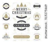 christmas labels and badges... | Shutterstock .eps vector #515275669