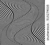 op art wavy lines pattern.... | Shutterstock .eps vector #515279035