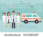 group of young doctors and... | Shutterstock .eps vector #515280187
