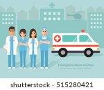 group of emergency room  er ... | Shutterstock .eps vector #515280421