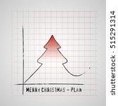 merry christmas tree on... | Shutterstock .eps vector #515291314