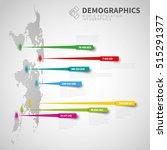 world map infographic template... | Shutterstock .eps vector #515291377