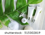 cosmetic bottle containers with ... | Shutterstock . vector #515302819