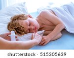 child with chickenpox | Shutterstock . vector #515305639