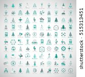 christmas icons set  isolated... | Shutterstock .eps vector #515313451