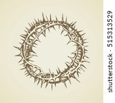 old circle sharp spikes for... | Shutterstock .eps vector #515313529