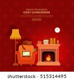 colorful vector cozy warm ... | Shutterstock .eps vector #515314495