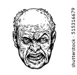 old man with angry face    Shutterstock . vector #515316679