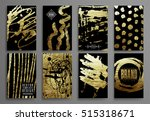 set of black and gold design... | Shutterstock .eps vector #515318671