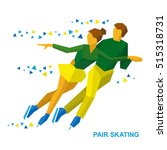 winter sports   pair figure... | Shutterstock .eps vector #515318731