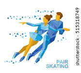 winter sports   pair figure... | Shutterstock .eps vector #515318749
