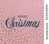 merry christmas. metallic...   Shutterstock .eps vector #515319394