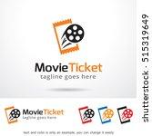 movie ticket logo template... | Shutterstock .eps vector #515319649