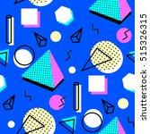 memphis seamless pattern of... | Shutterstock .eps vector #515326315