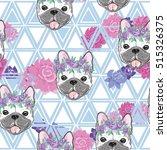 bulldog pattern   vector... | Shutterstock .eps vector #515326375