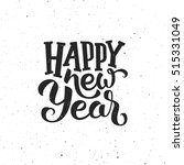 happy new year vintage greeting ... | Shutterstock .eps vector #515331049