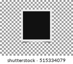 retro photo frame with shadow.... | Shutterstock .eps vector #515334079