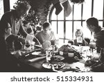 family together christmas... | Shutterstock . vector #515334931