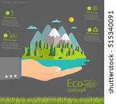 environmentally friendly world. ... | Shutterstock .eps vector #515340091