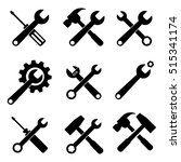 tools supplies icon set | Shutterstock .eps vector #515341174