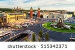 barcelona  spain. spanish... | Shutterstock . vector #515342371